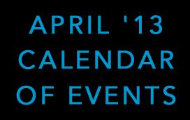 Calendar – April '13