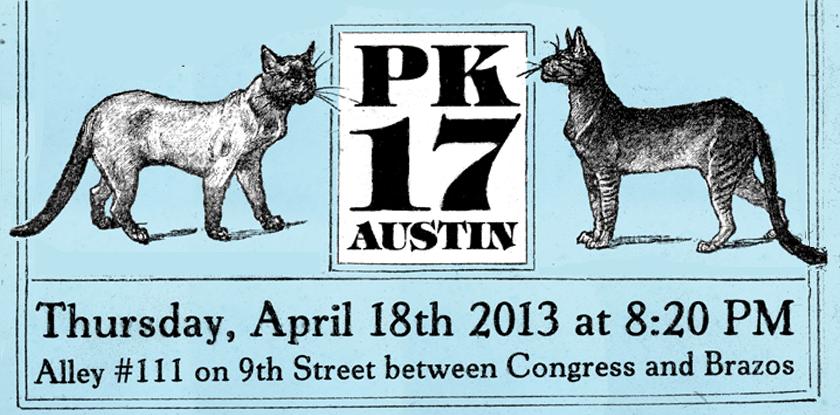 PK in alleyway #111: April 18th @ 7:30p
