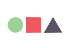 circle square triangle ACA 2015 colors