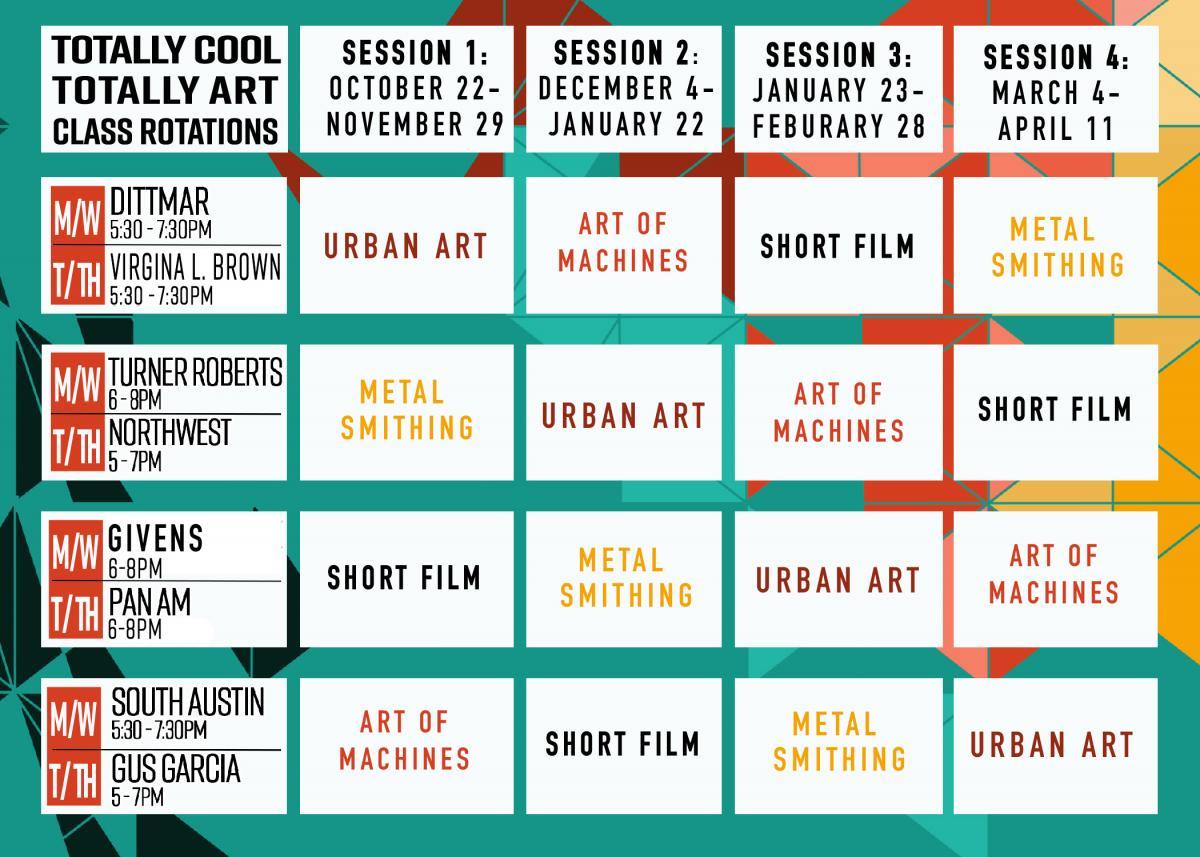 totally cool art programs